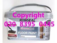 WHITE RONSEAL PerfectFinish DiamondHard Floor Paint + PerfectFinish Floor Pad RRP £25.50