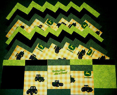40 john deere 4x4 fabric squares quilt blocks/kit/sewing