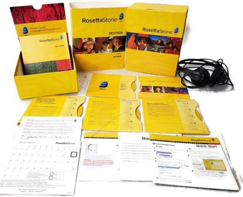 Rosetta Stone Deutsch Level 1 Version 3 German Used