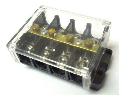 Eaton KUXSC 4S 2644 Terminal Block with Cover 600V, 60 AMP <953W3