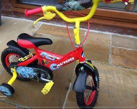 "Boys Avigo 12"" Dinotech Bike - hardly used"