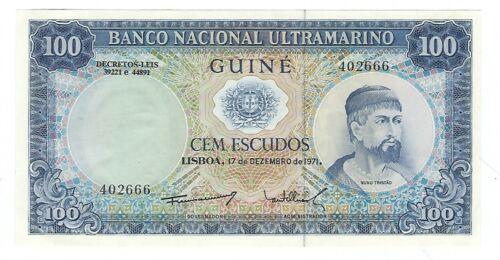 Guinee - One Hundred (100) Escudos,  1971