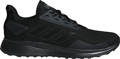 adidas Duramo 9 Mens Running Shoes Black Cushioned Sports Trainers
