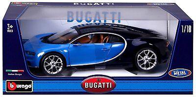 Bburago 2016 Bugatti Chiron Blue 1 18 Diecast Model Car 11040Bl