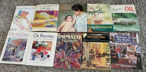 Lot of 10 OIL PAINTING Art Books Paint Artist How To Techniques Lesson Approach