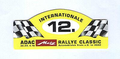 Aufkleber Motorsport ADAC Rallye Classic 12. Metz