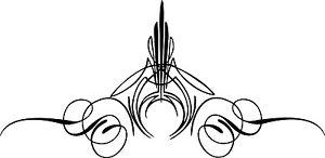 Custom Graphic Center Scroll Pinstriping Decal #12  Pair (2 Decals)