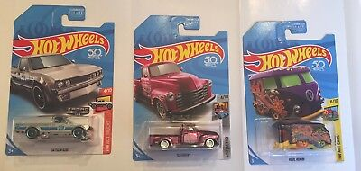 Hot Wheels 2018 Case J Lot- Super Treasure Hunt 52 Chevy, Zamac Datsun &  Kombi