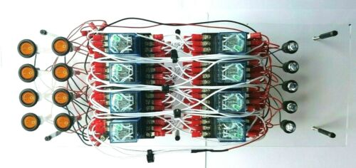 DIY Relay 4 Bit Binary Adder KIT 12VDC Zuse Circuit Computer Components Parts