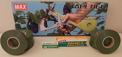 MAX TAPENER GARDEN PLANT TYING TAPE MACHINE CANE TIES