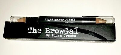 The BrowGal Brow Gal Gold/Nude Highlighter Double Ended Pencil New in Box