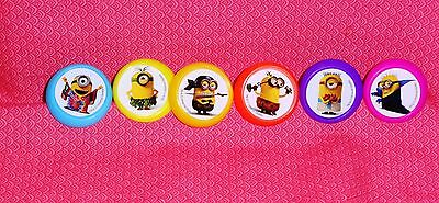 Minions Evolution,Cupcake Ring,Plastic,DecoPac,Bright Multi-Color, Party Favor - Cupcake Minions