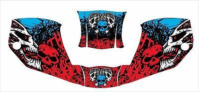 Miller Digital Welding Helmet Wrap Decal Sticker Infinity Red Blue Skull