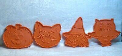 Hallmark Vintage Cookie Cutter Halloween Set - Witch Face Cat Pumpkin Owl