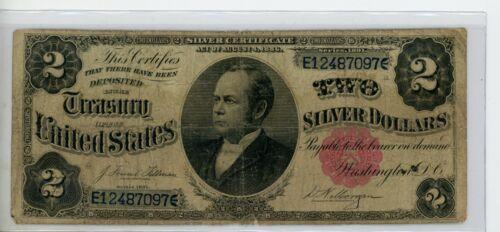 """FR. 246 1886 $2 TWO DOLLARS """"WINDOM"""" SILVER CERTIFICATE # 097"""