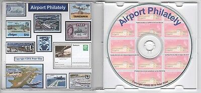 Airports on Stamps - philatelic reference CD-ROM, over 800 illustrations!