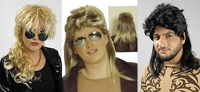 Damen Herren Perücke schwarz blond Kostüm 70er 80er - Kostüm Kurze Perücke Schwarz