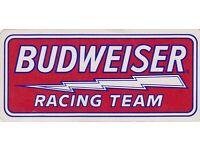 Coors Beer Racing sticker vintage 1990 beer decal unused