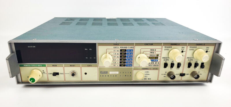 Fluke 1953A Counter / Timer w/ 6 Rear Inputs | POWERS ON 0350-C