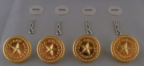 4 Los Angeles Police LARGE Polished GOLD Uniform Buttons LAPD CA California USA!