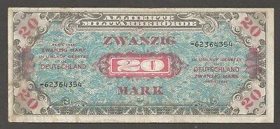 Germany 20 Mark 1944; F+, P-195d, L-B605b2; R/G-204d; Soviet print; AMC; WWII