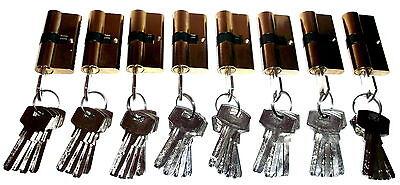 10 er Sicherheits Schließzylinder Tür Schloss Set 50 Schlüssel Gleichschließend