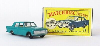 Vintage Lesney Matchbox #33 Ford Zephyr 6 Regular Wheels NEAR MINT IN BOX 1963