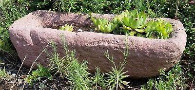 Trog Pflanztrog Pflanz Kübel Kunst Sandstein Antik Look Steinguss B 07 ROT
