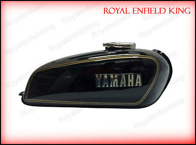 Yamaha RX100 RX125 Black Petrol Fuel Gas Tank With Chrome LID Cap & Tap