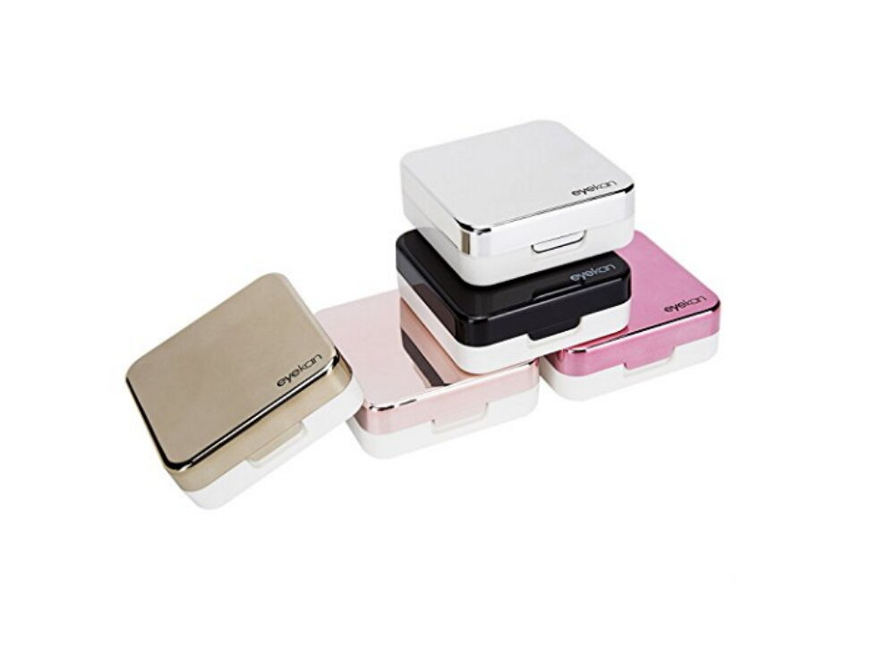 Mini Simple Contact Lens Travel Case Box Container Kit Set Holder With Mirror Contact Lens Storage & Equipment