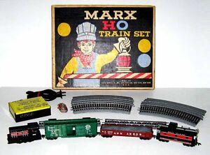Marx-HO-Train-Set-16475-Rock-Island-Engine-Caboose