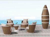 Bullet outdoor rattan furniture set