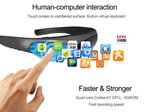 New Smart Glasses FPV Video Glasses K600  80 inch Screen Head-mounted Display
