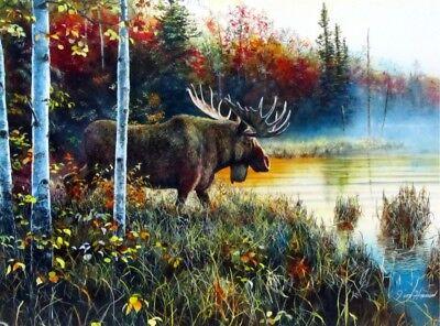 His Domain - Master of His Domain Moose  Print by Jim Hansel  16