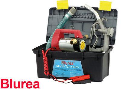 BLUREA MOBIL-TANK-BOX 12 Volt Dieselpumpe mit Zapfpistole