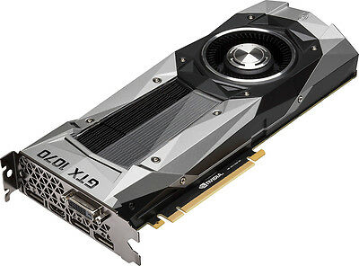 NVIDIA - GeForce GTX 1070 Founders Edition 8GB GDDR5 PCI Express 3.0 Graphics...