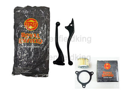 Royal Enfield Himalayan Clutch Brake Lever Kit Black With Free Oil Filter