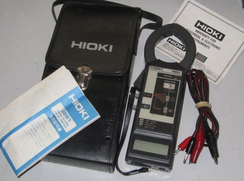 Hioki Digital Clamp On HiTester Tester Model 3261