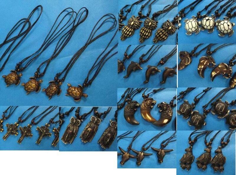 24 necklaces Gothic boho heppy tribal hippie wholesale bulk jewelry