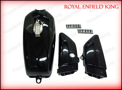 Yamaha RX100 RX125 Petrol Fuel Gas Tank With Chrome LID Cap & Side Panels
