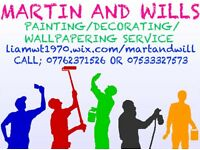 MARTIN AND WILLS painting/decorating and wallpapering service