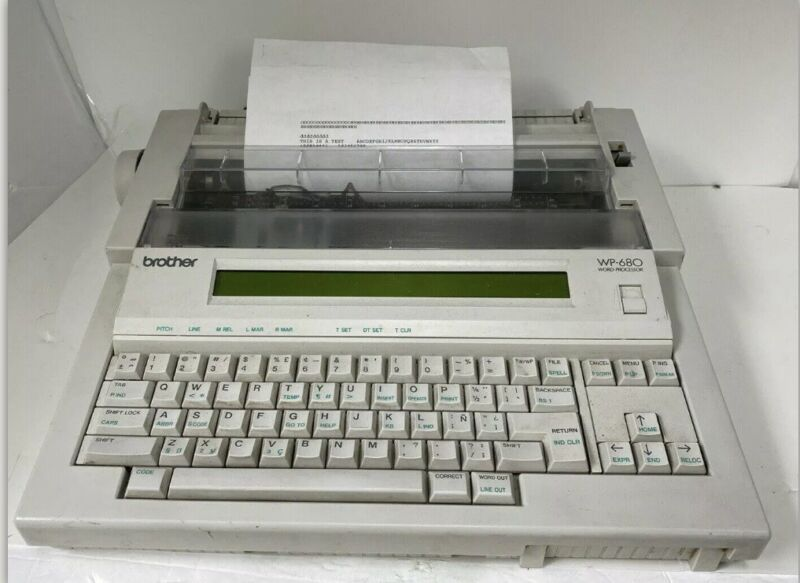 BROTHER WP-680 Word Processor & Typewriter TESTED