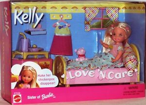 Love-N-Care-Kelly-Doll-Make-Her-Chickenpox-Disappear-Sister-of-Barbie-New