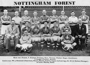 NOTTINGHAM FOREST FOOTBALL TEAM PHOTO 1953-54 SEASON