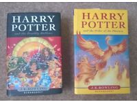 HARRY POTTER and the Deathly Hallows & Order of the Phoenix by JK Rowling - First Edition
