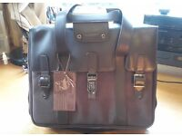 """16"""" Laptop bag, brown leather and canvas. Brand new. Unwanted gift. Made in Italy. £18"""
