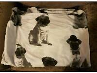 Pug double duvet cover with 2 pillowcases