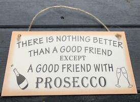 Gin/Prosecco wooden plaques