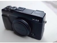 Fuji XE-2 digital compact system camera body only (black) little used, near mint, lenses available