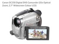 Canon camcorder DVD DC230 old model in perfect working order with accessories